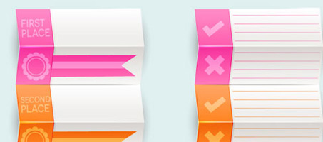 Create Your Own Folded Prize Tag Vectors!