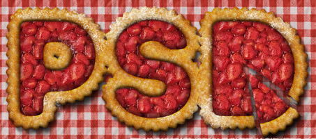 Strawberry Fruit Pie Text Effect