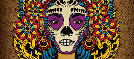 Death Goddess inspired by Mexico's Day of the Dead
