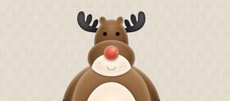 Create a Cute Vector Reindeer Character